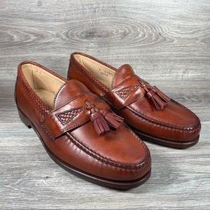 Allen Edmonds Maxfield Brown Woven Tassel Loafer